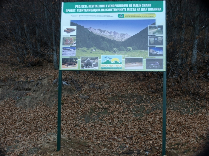 Renovation of the Picnic sites in the Sharr mountain